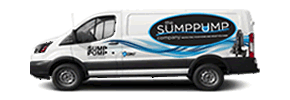 Sump Pump Company Truck on the Street